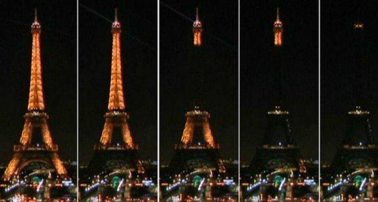 Cuando la ciudad de las luces se apaga, el mundo se enciende por ella.